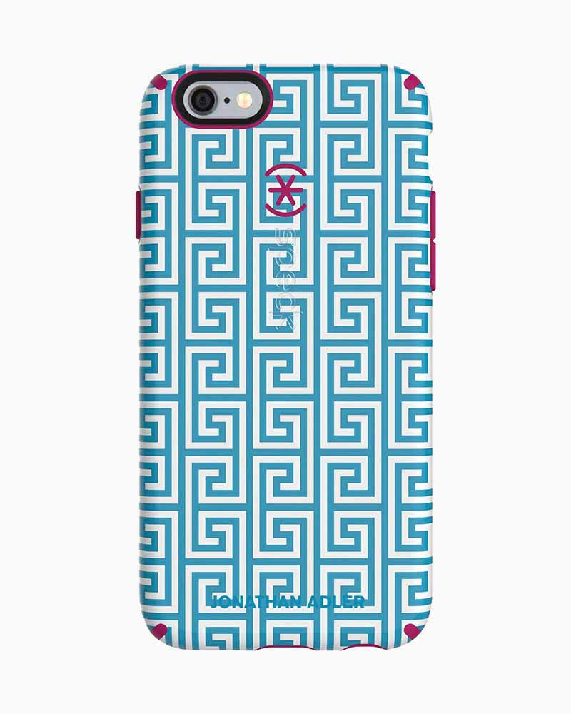 Speck Candyshell Inked Case for iPhone 6/6S in Aqua Greek Key