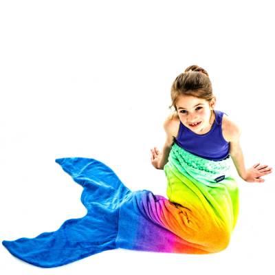 Kids Limited Edition Rainbow Mermaid Tail Blanket