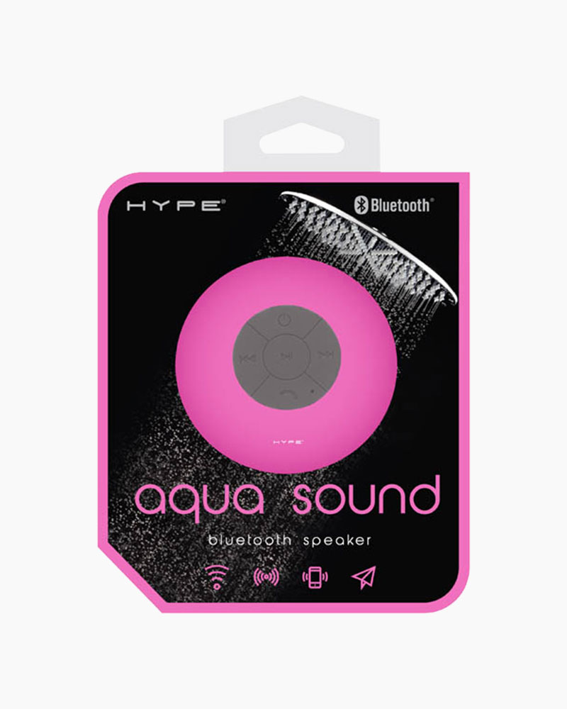 Hype Aquasound Pink BlueTooth Shower Speaker