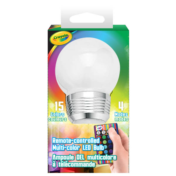 Crayola Remote-Controlled Multi-Color LED Bulb