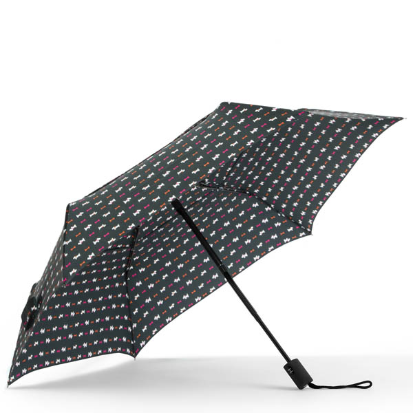 ShedRain WindPro Vented Fashion Auto Open and Close Compact Umbrella in Scotty Dogs