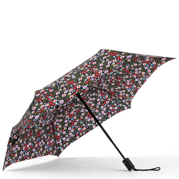 ShedRain WindPro Vented Fashion Auto Open and Close Compact Umbrella in Flowers
