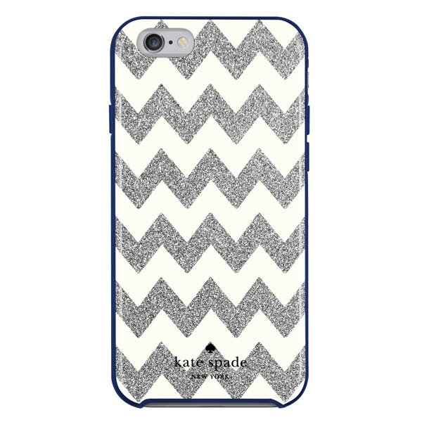 Kate Spade Silver and Cream Zig Zag iPhone 6 and 6S Case