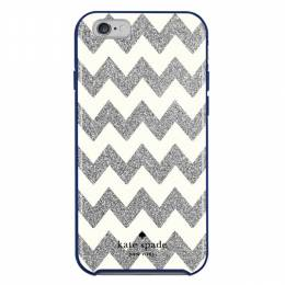 kate spade NEW YORK Silver and Cream Zig Zag iPhone 6 and 6S Case