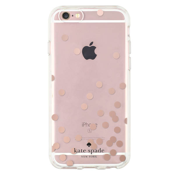 Kate Spade Rose Gold Dots iPhone 6 and 6S Case