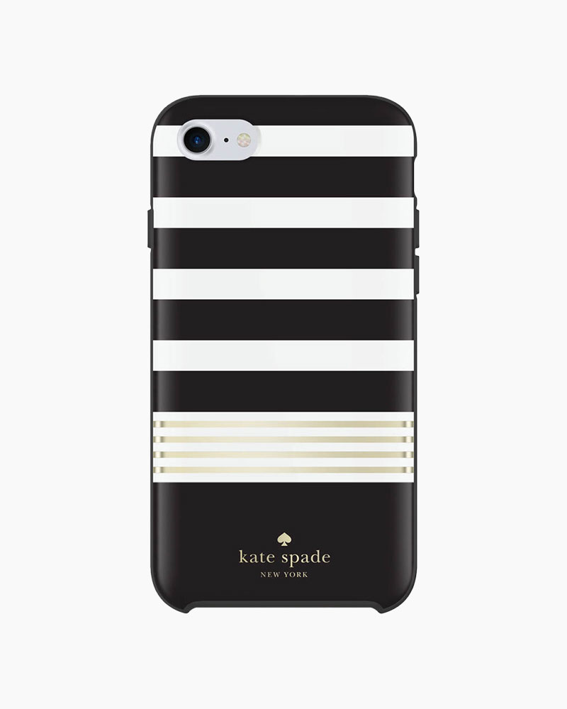 Kate Spade Black Stripe iPhone 7 Case