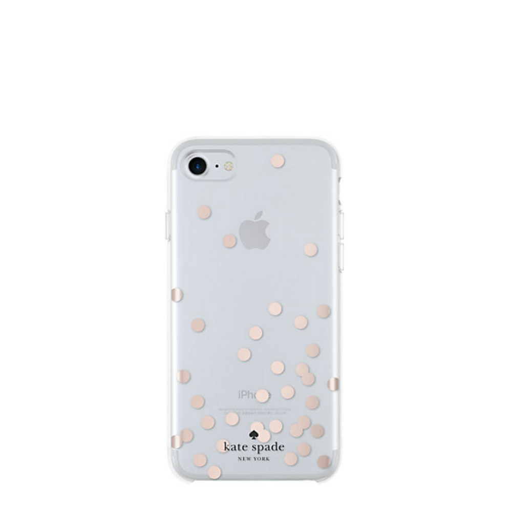 Kate Spade Rose Gold Polka Dots iPhone 7 Case
