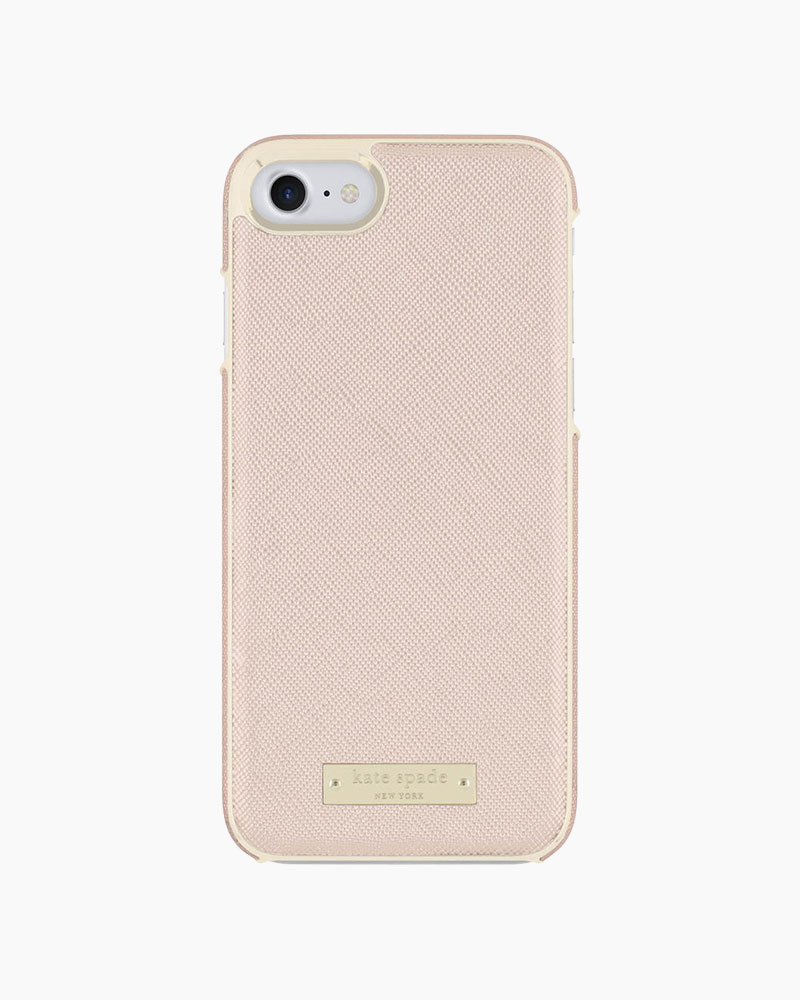 Kate Spade Rose Gold Saffiano Leather iPhone 7 Case