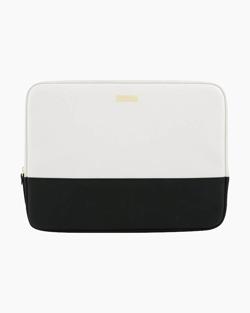 Kate Spade Saffiano Leather Laptop Case in Black and White