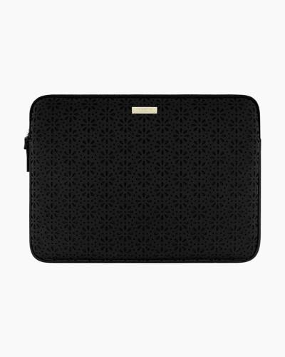Saffiano Leather Laptop Case in Black