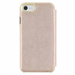 kate spade NEW YORK Rose Gold Saffiano Leather iPhone 7 Folio Wallet Case
