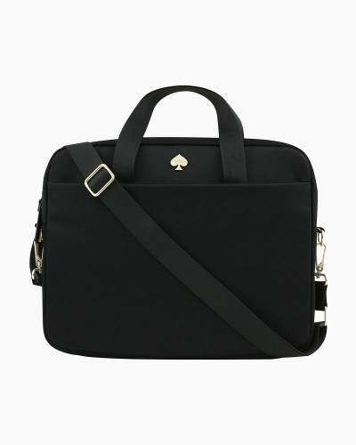 Nylon Laptop Bag in Black