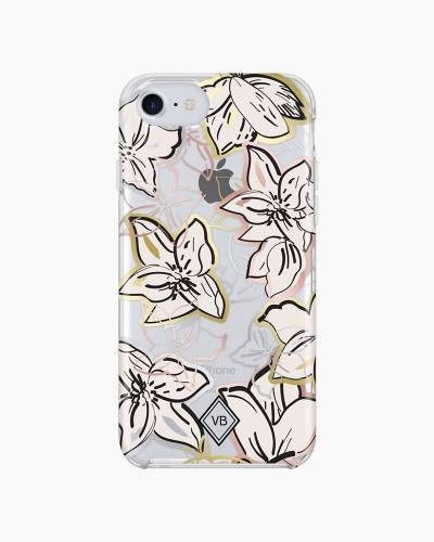 iPhone 7 Case in Falling Flowers Metallic