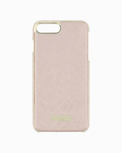 Rose Gold Saffiano Leather iPhone 7 Plus Case