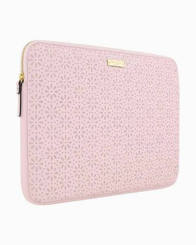 Saffiano Leather Laptop Case in Rose Quartz