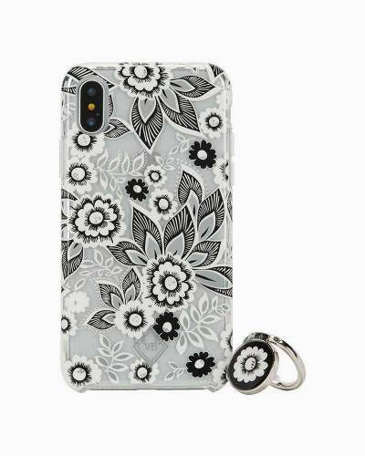 Flexible Frame Case and Stability Ring for iPhone in Snow Lotus (8, 7, 6, 6S)