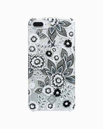 Flexible Frame Case for iPhone in Snow Lotus (8 Plus, 7 Plus, 6 Plus, 6S Plus)