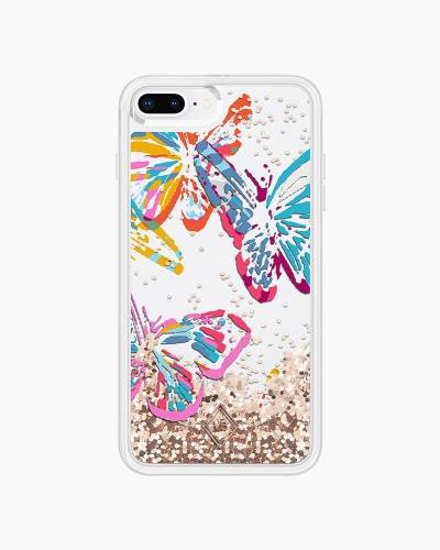 Glitter Flurry Case for iPhone in Butterfly Flutter (8 Plus, 7 Plus)