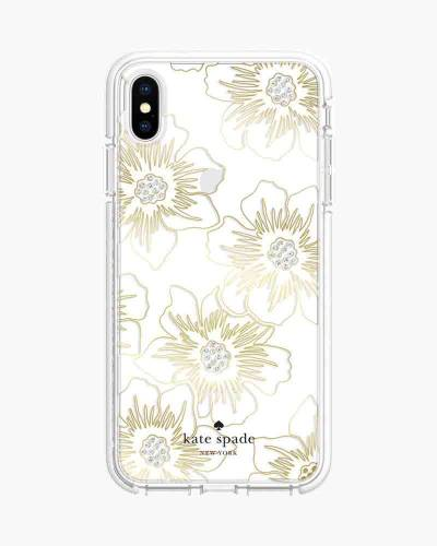 Reverse Hollyhocks iPhone XS Max Case