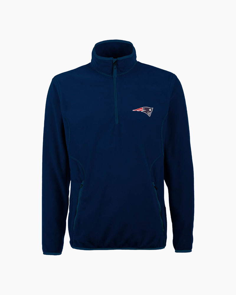 Antigua New England Patriots Ice Polar Fleece Quarter Zip Pullover Jacket