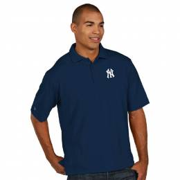 Antigua New York Yankees Men's Pique Xtra-Lite Polo Shirt