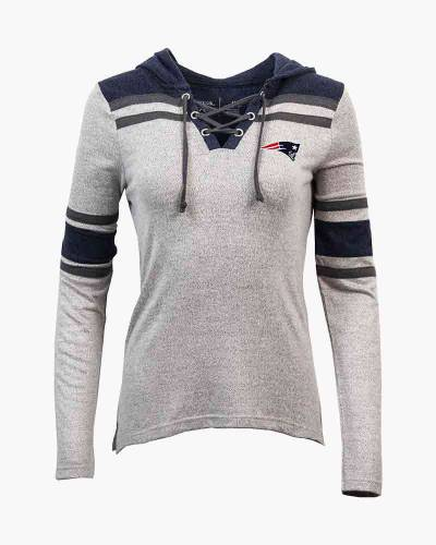 Women's New England Patriots Wrestle Hooded Pullover
