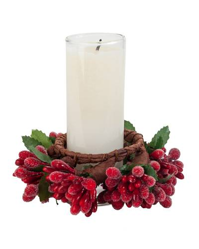 Holiday Votive and Wreath Set