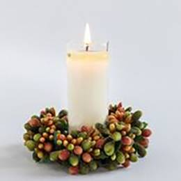 Mixture Fall Votive and Wreath Set