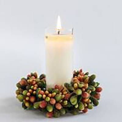 Fall Votive and Wreath Set