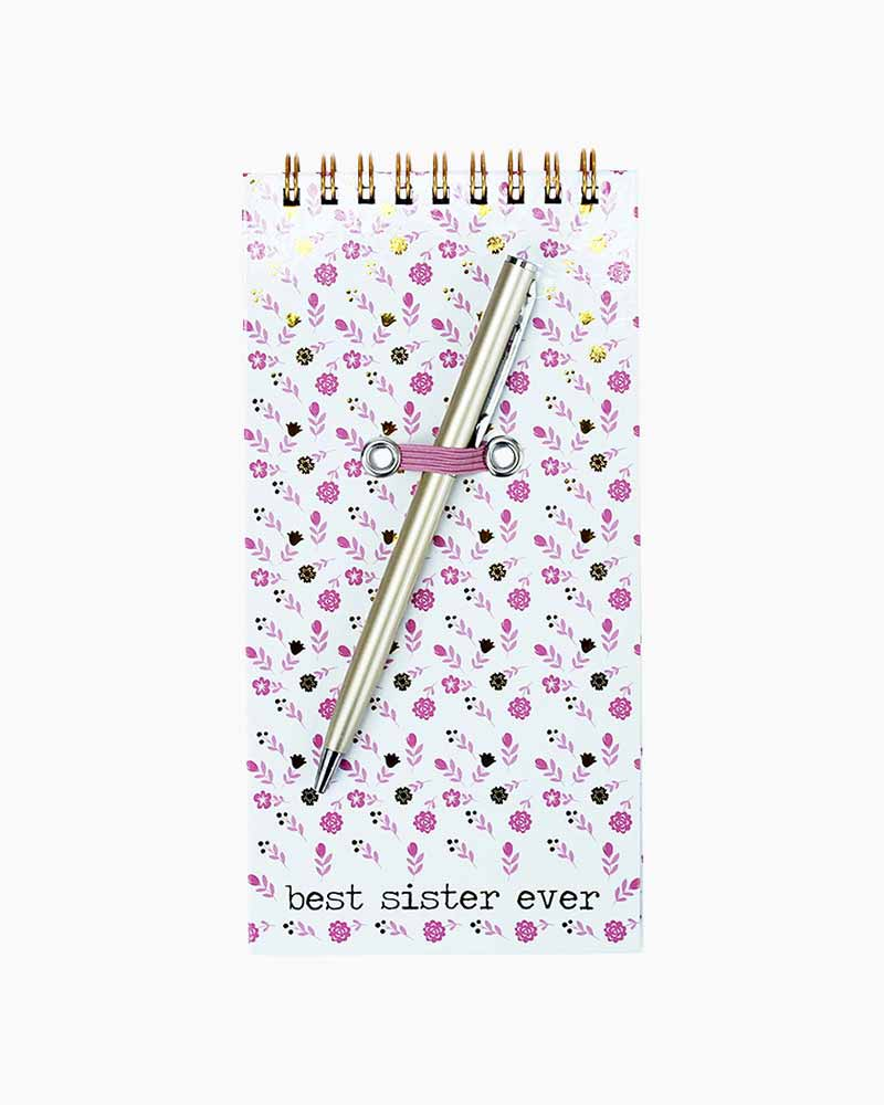Mary Square Best Sister Notepad