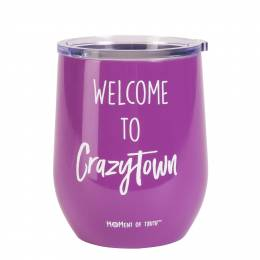 Mary Square Crazy Town Stainless Steel Stemless Wine Glass