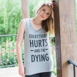 Mary Square Everything Hurts Women's Tank