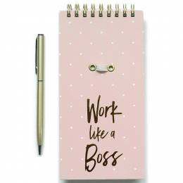 Mary Square Work Like a Boss Notepad and Pen Set