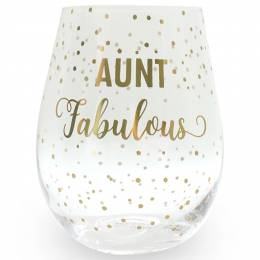 Mary Square Aunt Fabulous Stemless Wine Glass