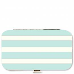 Mary Square Mint Stripes Manicure Set