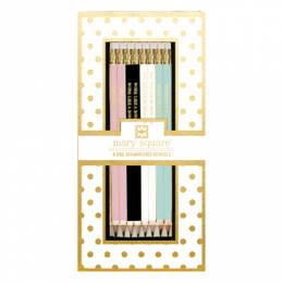 Mary Square Boxed Statement Pencils Set