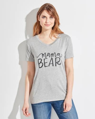 Mama Bear V-Neck Tee