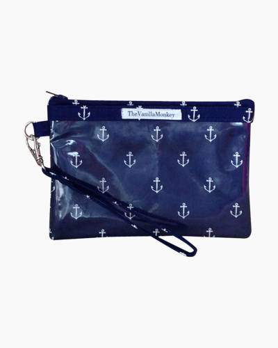 Navy Blue Anchors Smartphone Wristlet