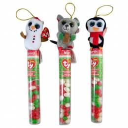 Flix Ty Beanie Boo's Jelly Bean Tube with Plush Topper (Assorted)