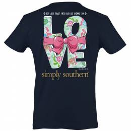 Simply Southern Women's In Love Short Sleeve Tee