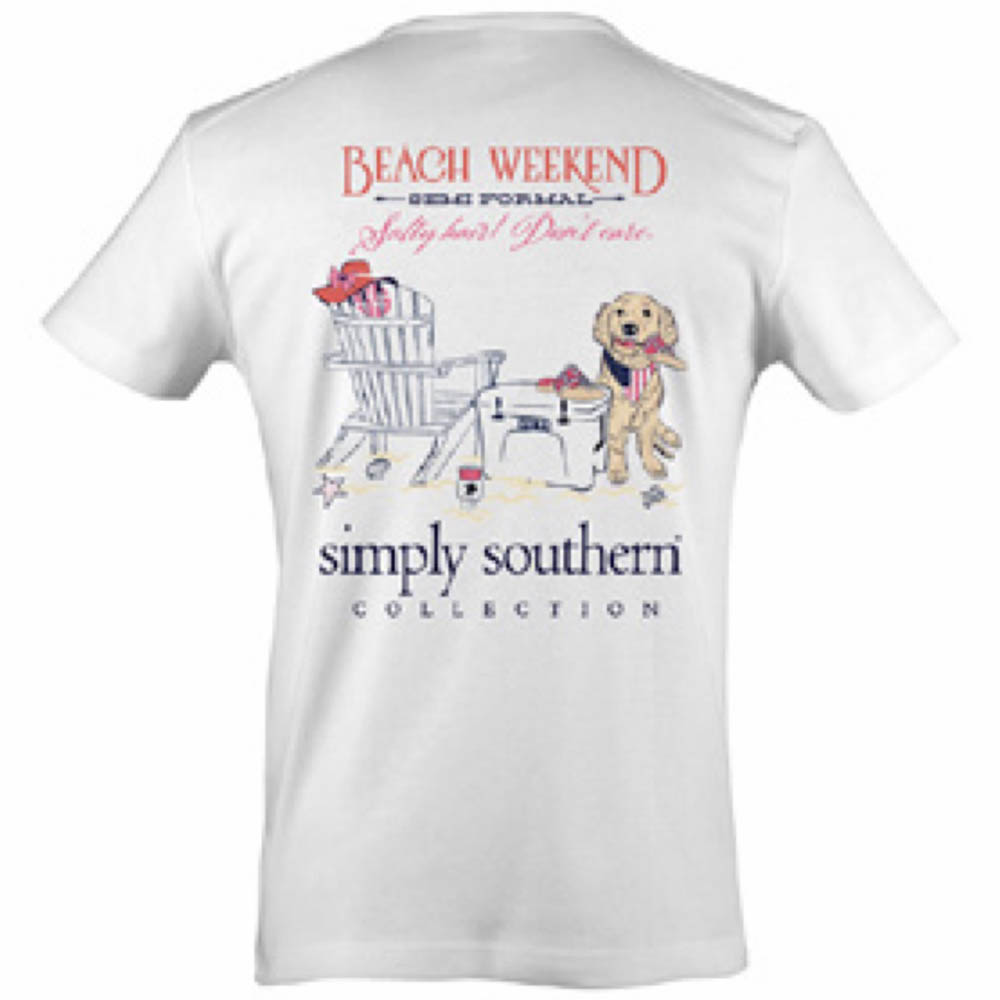 Simply Southern Women's Beach Weekend Semi Formal Short Sleeve Tee