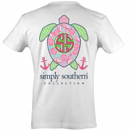 Simply Southern Women's Shell Sea Turtle Short Sleeve Tee