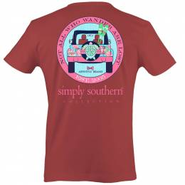 Simply Southern Women's Not All Who Wander Off-Roader Short Sleeve Tee
