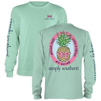 Women's Be Sweet Pineapple Long Sleeve Top