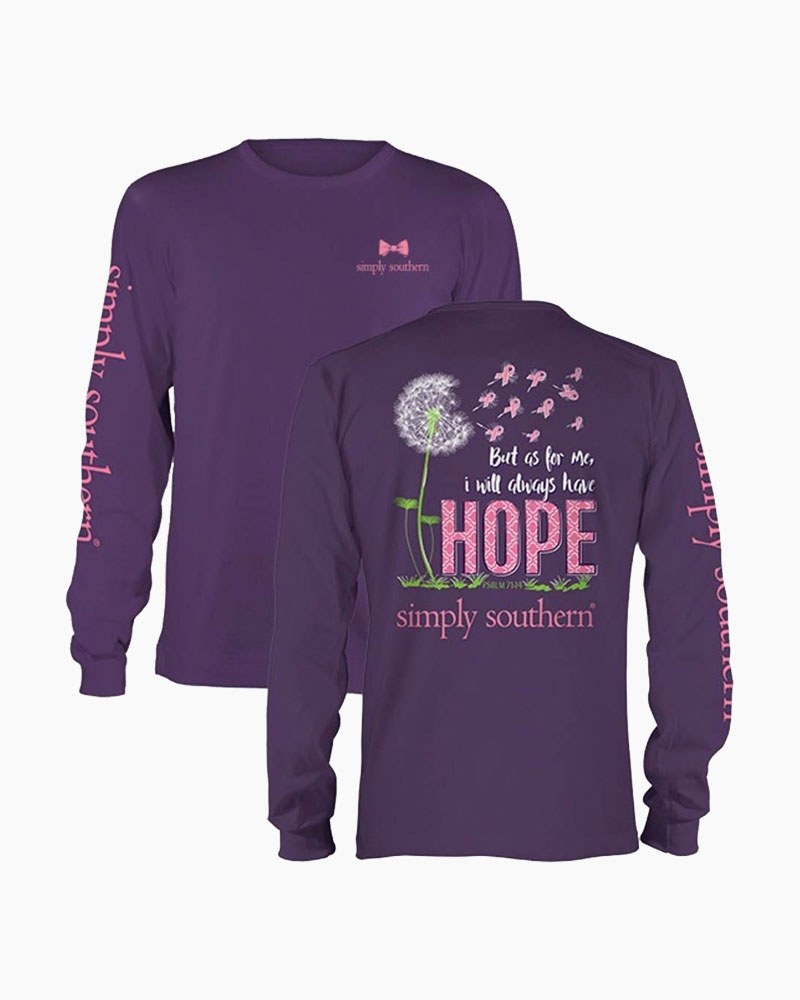 Simply Southern Women's I Will Always Have Hope Long Sleeve Top