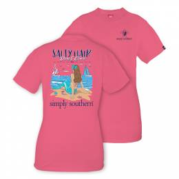 Simply Southern Women's Salty Hair Mermaid Short Sleeve Tee