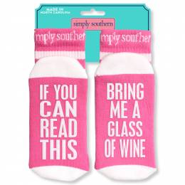 Simply Southern Tees Bring Me Wine Women's Statement Socks