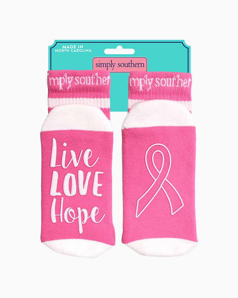 Simply Southern Tees Live Love Hope Women's Statement Socks