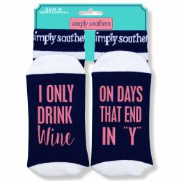 Simply Southern Tees Wine Days Women's Statement Socks