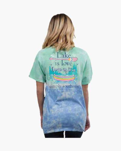 363f768fe Simply Southern Women s Preppy Lake is Love Short Sleeve Tee